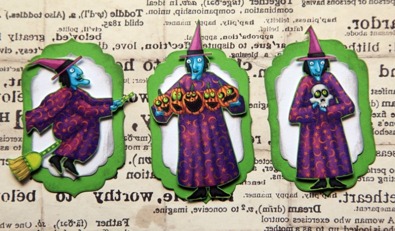 Wicked Witch Halloween Tags- Perfect for Scrapbooking, Card Making, Altered Art and more