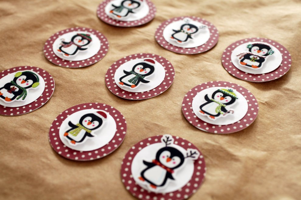 Penguin Holiday and Christmas Gift Tags