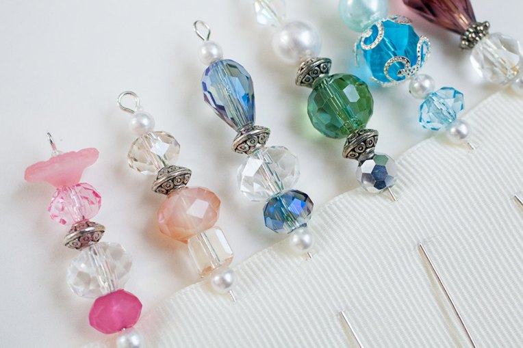 Beaded Stick Pins