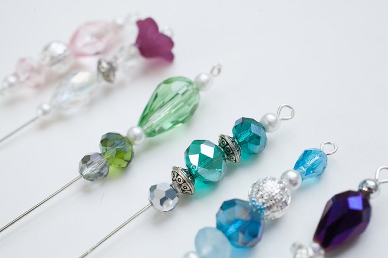 Vintage Inspired Beaded Stick Pins