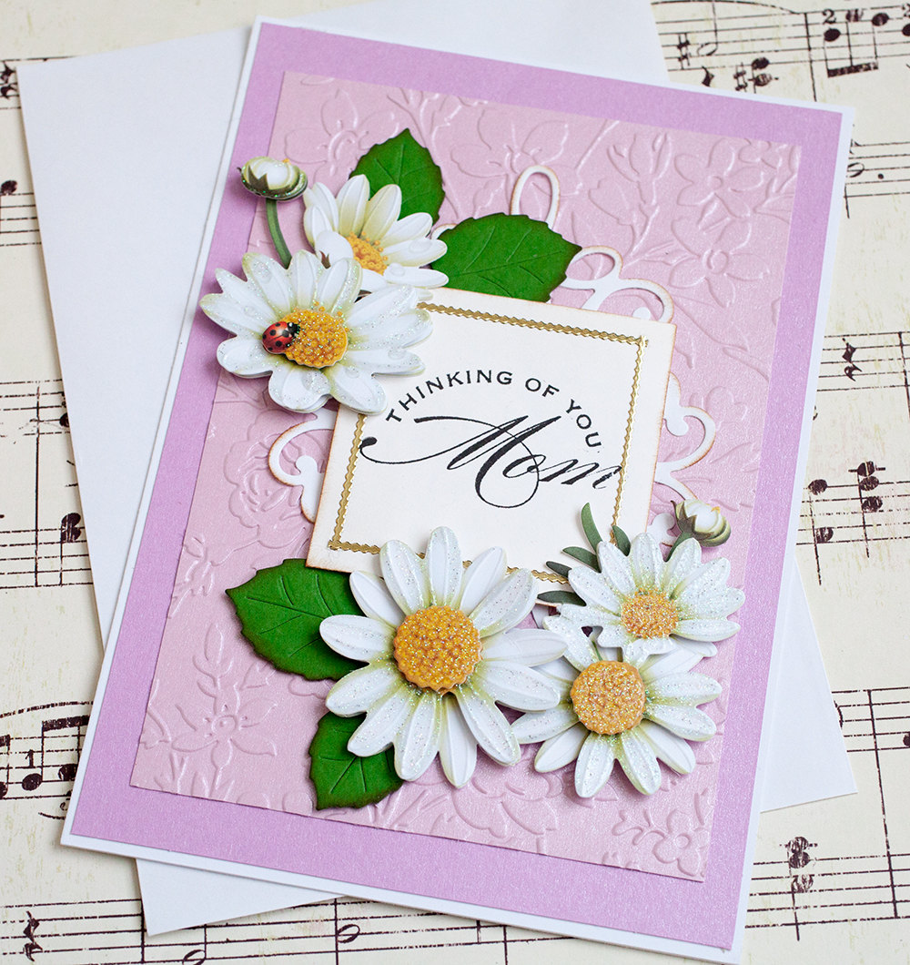 Gorgeous Three Dimensional Daisy Mother's Day Card